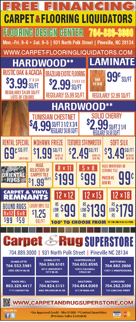 Specials Carpet Flooring Liquidators Gastonia Nc